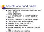 benefits of a good brand