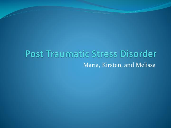 post traumatic stress disorder n.