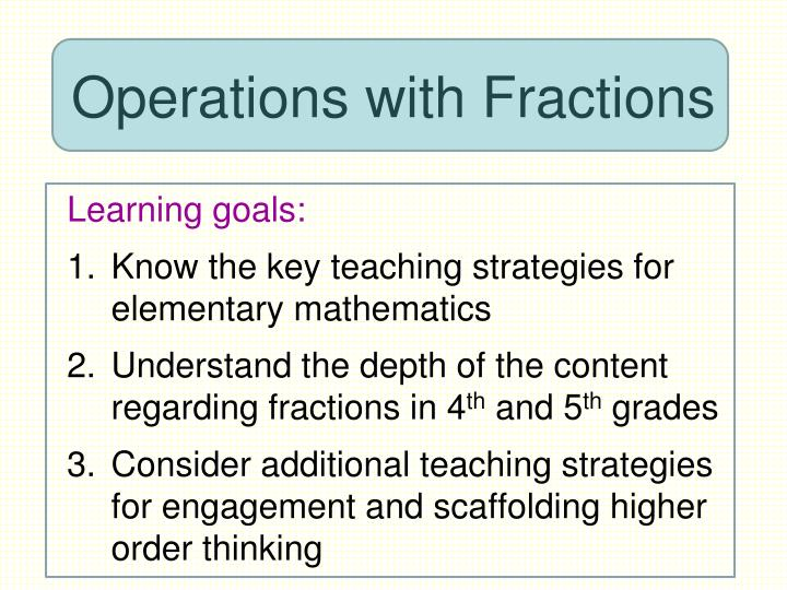 operations with fractions n.