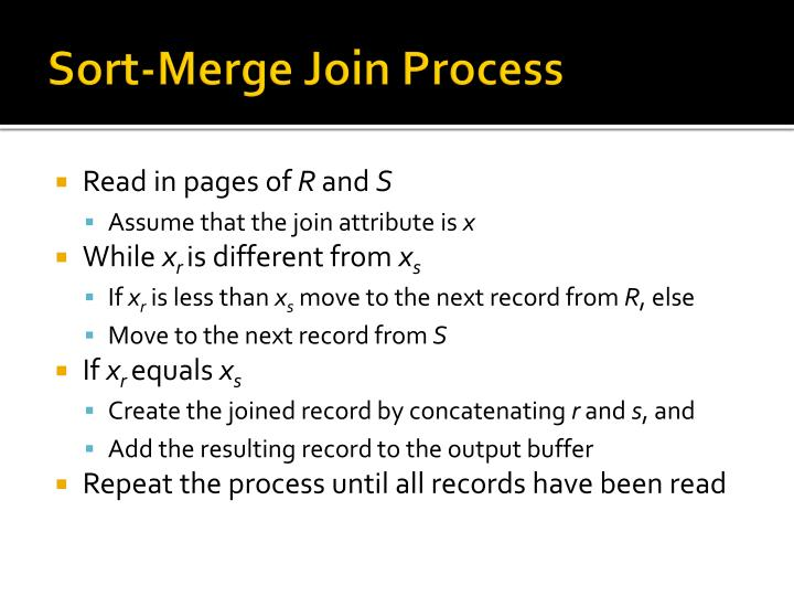 Sort-Merge Join Process