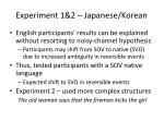 experiment 1 2 japanese korean