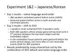 experiment 1 2 japanese korean2