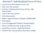 exercise f individualized focus of care