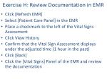 exercise h review documentation in emr