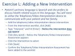 exercise l adding a new intervention
