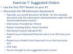 exercise t suggested orders