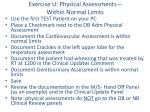 exercise u physical assessments within normal limits