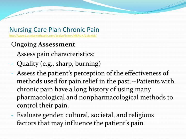 history of nursing care plans