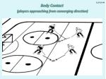 body contact players approaching from converging direction