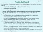 penalty shot award