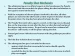 penalty shot mechanics