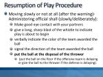 resumption of play procedure1