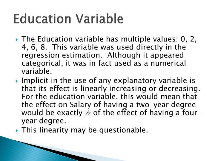 Education Variable