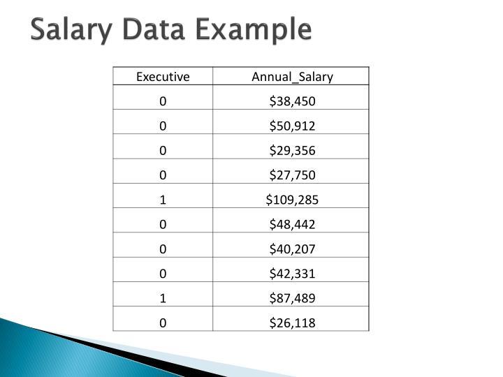 Salary data example
