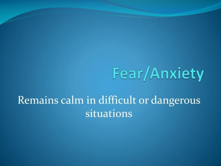 Fear/Anxiety