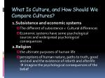 what is culture and how should we compare cultures1