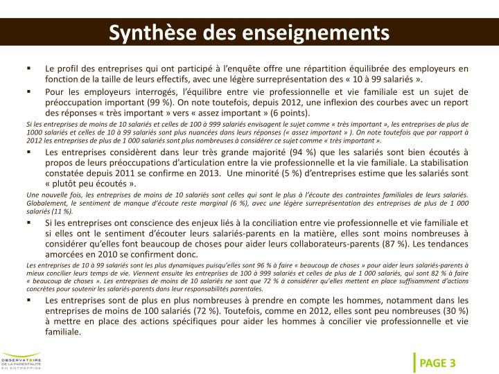 synth se des enseignements n.