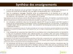 synth se des enseignements