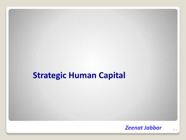 strategic human capital n.