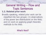 general writing flow and topic sentences