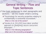 general writing flow and topic sentences1