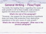 general writing flow topic