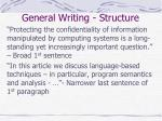 general writing structure2