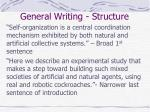 general writing structure3