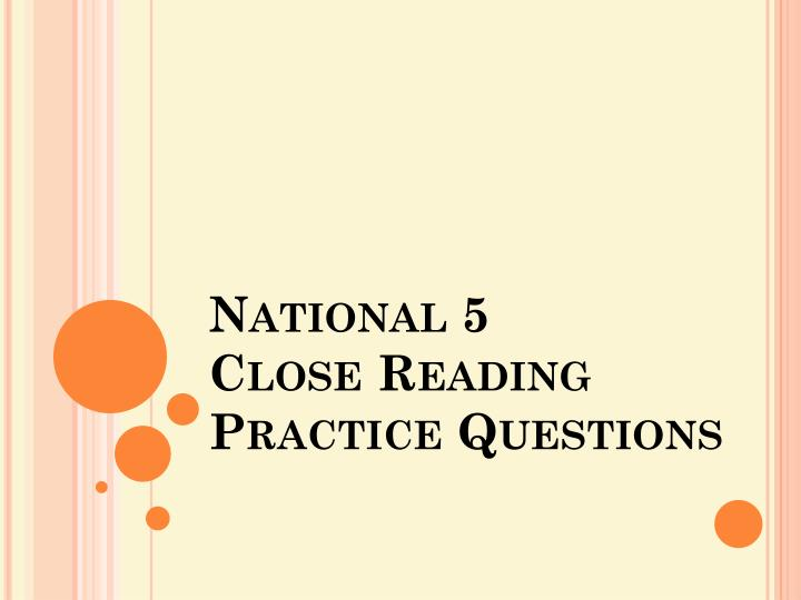 national 5 close reading practice questions n.