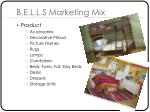 b e l l s marketing mix