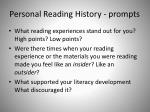 personal reading history prompts