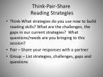 think pair share reading strategies