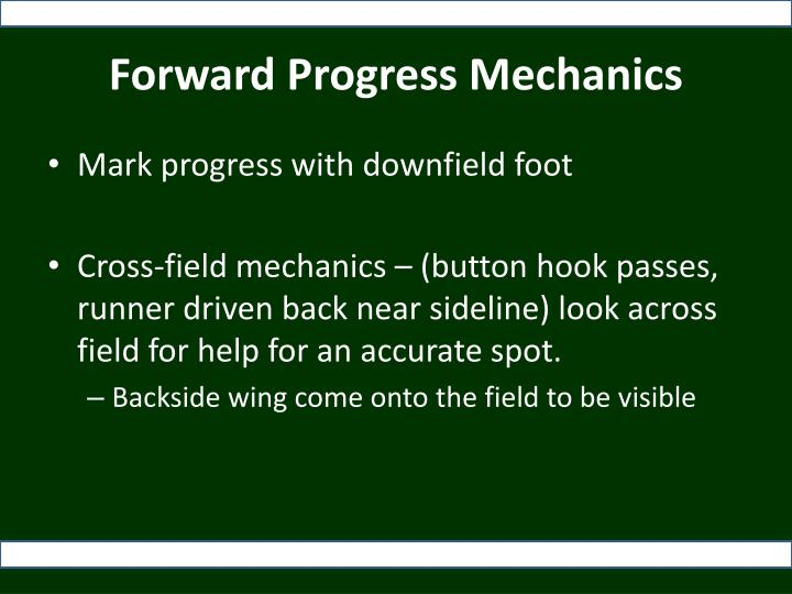 Forward Progress Mechanics