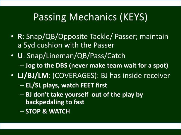 Passing Mechanics (KEYS)