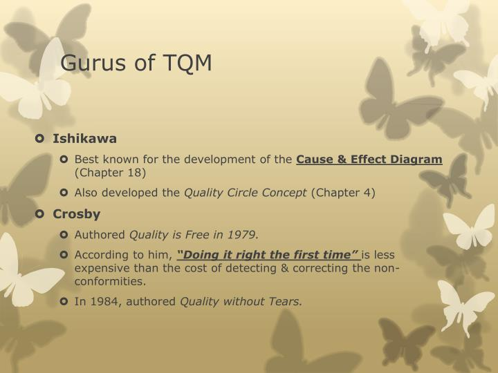 Gurus of TQM