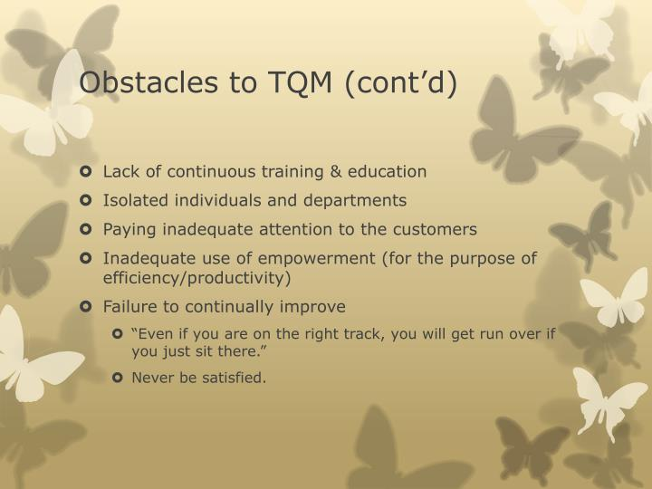Obstacles to