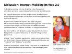 diskussion internet mobbing im web 2 0