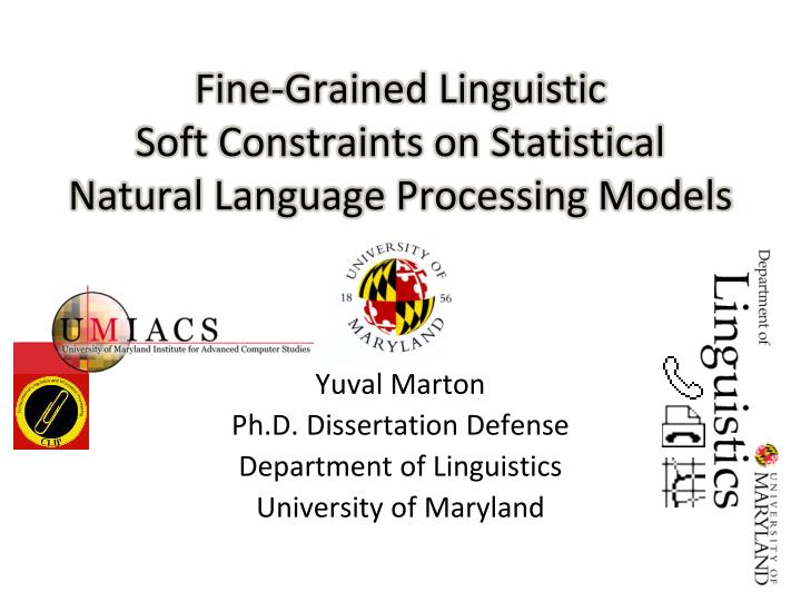 phd thesis in linguistics A student who is fast-tracked from the mcgill ma program to the phd program is considered 'phd2 the phd program phd theses must be deposited.