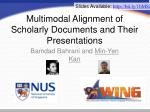 multimodal alignment of scholarly documents and their presentations