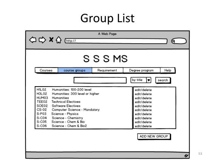 Group List