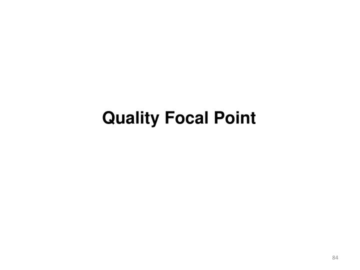 Quality Focal Point