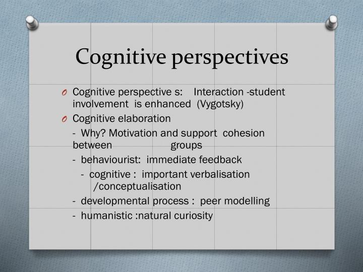Cognitive perspectives