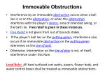 immovable obstructions1