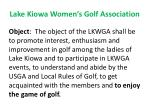 lake kiowa women s golf association