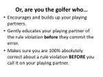 or are you the golfer who