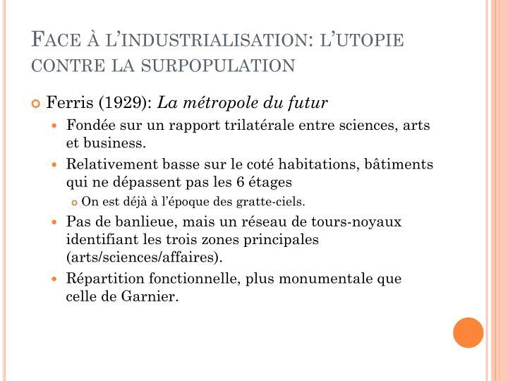Face l industrialisation l utopie contre la surpopulation1