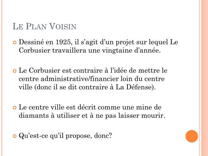 Le Plan Voisin