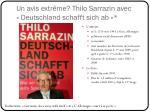 un avis extr me thilo sarrazin avec deutschland schafft sich ab