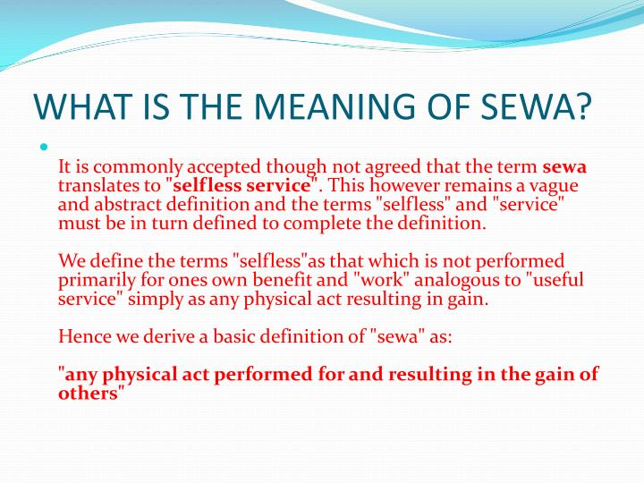 selfless service definition