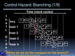 control hazard branching 1 9